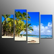 HD Prints Coconut Trees Island Canvas Painting Home Decor Pictures No Frame 4pcs