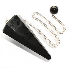Black Tourmaline Schorl Point Dowsing Pendulum Crystal Psychic Protection