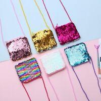 Kids Girl Coin Purse Sequin Handbag Shoulder Messenger Bags Crossbody Wallet