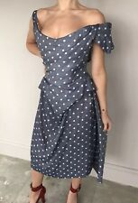 BEAUTIFUL Vivienne Westwood Red Label Polka Dot Grey Corset Dress Gown 44