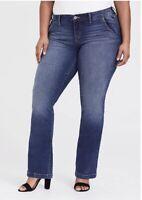 TORRID Bootcut Stretch Medium Wash Jeans Pants Size 18 W $59.40 Retail.