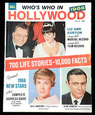 Dell Who's Who in Hollywood Magazine #21 1966 Liz & Burton Sean Connery +++