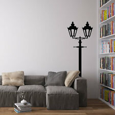 Victorian Double Lamppost Vinyl Wall Decal for Home Decor / Interior Design /...