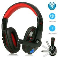 Wireless Bluetooth Gaming Headset Headphones Stereo with Mic for PC Laptop