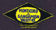 LMH Patch MONTICELLO SANGAMON VALLEY Railway Historical Society MUSEUM M&SV 3.5""