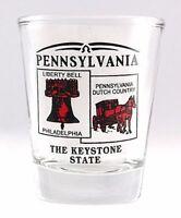 PENNSYLVANIA STATE SCENERY RED NEW SHOT GLASS SHOTGLASS