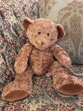 "Large Russ Berrie Plush Glitter CHIPS Teddy Bear Tan Brown 20""  #G9"