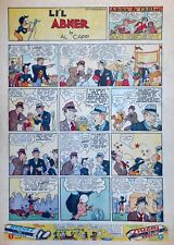 Li'l Abner by Al Capp - large full tab page color Sunday comic - May 2, 1937