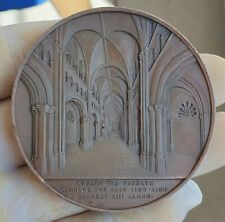 RARE ARCHITECTURE MEDAL BY WIENER - ZU BONN CATHEDRAL 1855