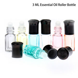 1Pcs 3Ml Empty Essential Oil Perfume Bottle Roller Ball Glass Cosmetic Contai_DB