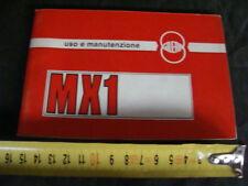 Manuale uso manutenzione Gilera MX1