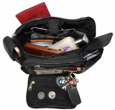 MENS LADIES LEATHER EXTRA LARGE ORGANIZER FANNY PACK/WAISTBAG.LAST ONE