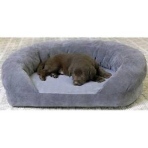 K&H PET PRODUCTS 4702 Gray Velvet ORTHO BOLSTER SLEEPER PET BED SMALL GRAY VE...