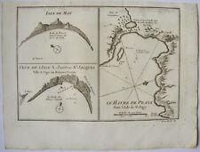 ISLE DE MAY, ILE S.JAGO, LE HAVRE DE PRAYA, BELLIN, 1746 ILES DU CAP VERT