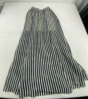 Abercrombie & Fitch Womens 100% Polyester Long Striped Skirt Small Blue/White