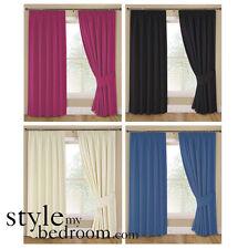 пара на подкладе простоя шторы в 4 цветах & 7 размеров включая галстука задники