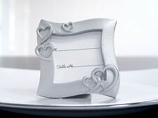 144 Silver Heart Place Card Photo Frame Bridal Wedding Favors