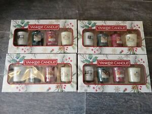Yankee Candle NEW x4 Christmas/Winter Votive Candle Sets