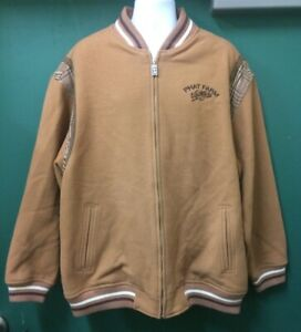 Phat Farm Vintage Jacket Sz XXL Men Brown Wool Outer Shell Full Zip With Pockets
