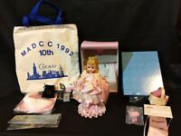 "Vintage LOT Madame Alexander 8"" Prom Queen Doll MADCC Convention Chicago 1992 ++"