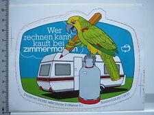 Aufkleber Sticker Zimmermann - Camping - Gas - Caravaning (5622)