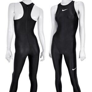 Nike Solid Competition Swimsuit Women's Swimsuit Open Water Triathlon Black