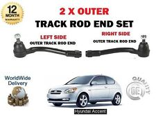 FOR HYUNDAI ACCENT 1.4 2006-  2x OUTER LEFT RIGHT STEERING TRACK TIE ROD END SET