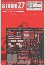 1/20 Ferrari F2012 Photo Etch conjunto de detalle por Studio 27 kits para Fujimi
