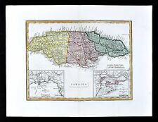 1839 Bell Map - Jamaica - Port Royal Kingston - Bluefields Harbor - Montego Bay