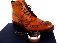 "LOAKE BROGUE BOOT SHOE ""TAN LEATHER CREAM "" REVIVES PROTECTS SMOOTH LEATHER"