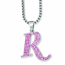 REMINGTON Stainless Steel Pink Crystal R Pendant Necklace Gun Accessories Jewelr