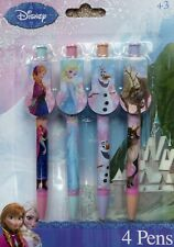 Disney Frozen Character Ball-point Pens - 4 Pack - Elsa, Anna, Olaf & Sven