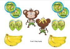 MONKEY GO BANANAS Happy Birthday PARTY Balloons Decorations Supplies