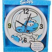 Smurfs Wall Clock Bedroom Play room Decor Large New Boys Girls Kids Children