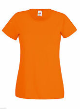 Fruit of the Loom 100% Cotton Plain Blank Women's Tee Shirt Tshirt T-Shirt