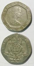 Great British England U.K  20 pence 1982-1984 20mm co-ni coin