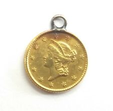 1853 $1 One Dollar Gold Coin Liberty Jewelry