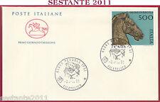ITALIA FDC CAVALLINO I BRONZI DI PERGOLA PS 1991 ANNULLO T787