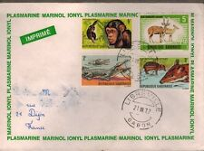 1972 - Gabon//Enveloppe FDC//1°Jour -Animaux-Faune - Obl.Libreville