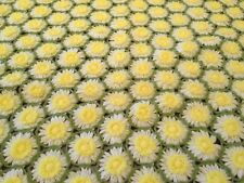 Handmade Daisy Flower Afghan Throw Blanket Vtg Crochet 50x28