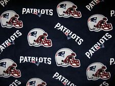 2-NFL NEW ENGLAND PATRIOTS STANDARD FLEECE PILLOW CASES/BLUE FLEECE BACK 19X25