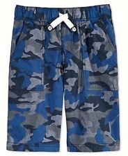 1b1cde7ce New Tommy Hilfiger Boys Chambray Camo Jogger Pull On Short Navy Size Small