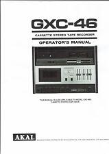 Akai  Bedienungsanleitung user manual owners manual  für GXC- 46