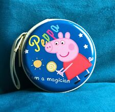 Peppa Pig Purse Coin Metal Blue Peppa I Am A Magician Pouch NEW