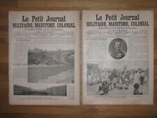Le Petit journal 2 n° 1904 SIAM RAMA V CHULALONGKORN King Thailand Bangkok Map .