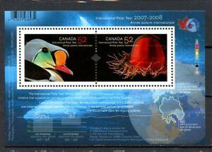Canada MNH #2205b Souv Sheet Intnl Polar Year 2007  K693