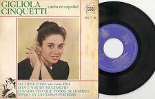 GIGLIOLA CINQUETTI - CANTA EN ESPANOL, NO TIENE EDAD EP + GO 1964/1974, SPAIN/UK