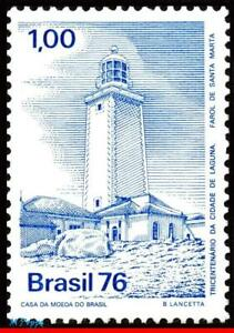 1466 BRAZIL 1976 LAGUNA, 300 YEARS, LIGHTHOUSE, ARCHITECTURE, MI# 1551 C945, MNH