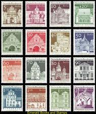 EBS West Berlin 1966 12 Centuries German Architecture (II) Michel 270-285 MNH**