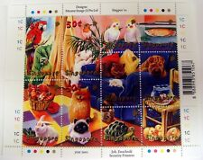 SINGAPORE PET STAMPS SHEET 2001 MNH PETS ANIMALS BIRD CAT DOG TURTLE FISH PARROT